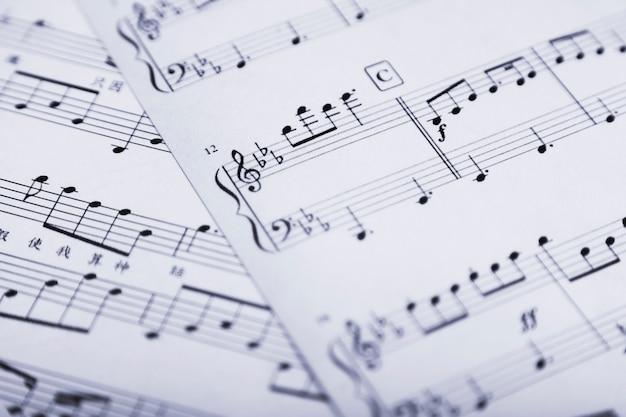 Крупным планом ноты