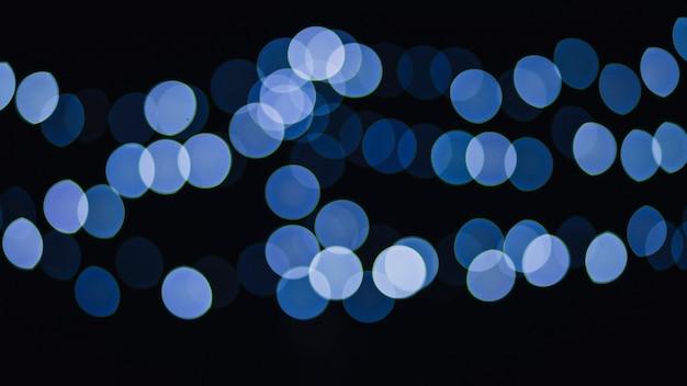 青い光のクラスター