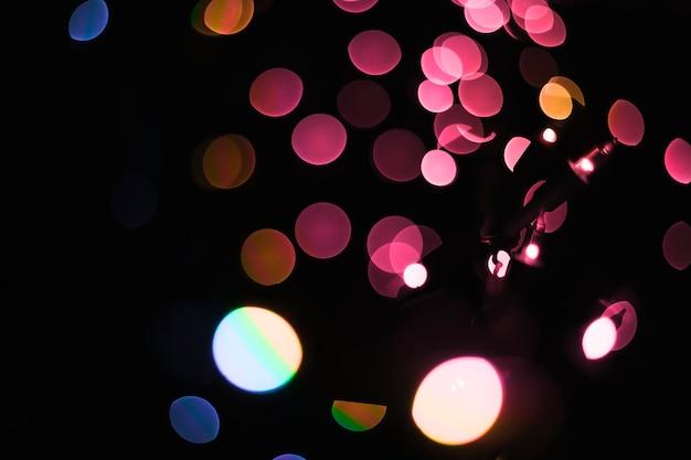 カラフルな花輪の抽象的なライト