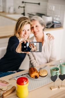 Концепция «день матери» с завтраком