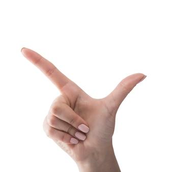 手銃のジェスチャーを示す手作りの手