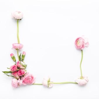 かわいいバラと牡丹の組成