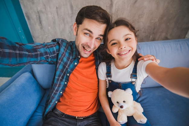 Идея отца с отцом и дочерью