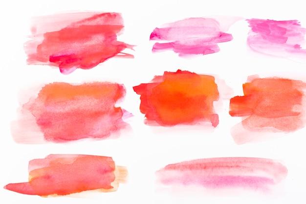 赤い水彩のストローク