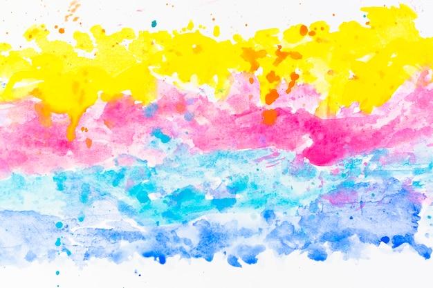 カラフルな水彩画の線