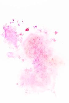 ピンク色の塗料のなめらかな汚れ