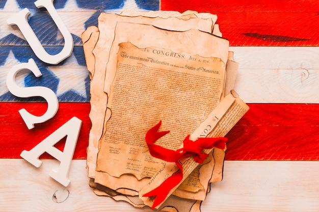 Форма дня независимости сша с декларацией и письмами