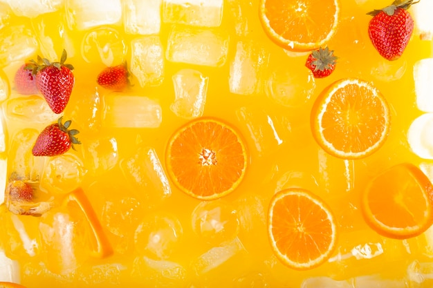 Крупный план вкусный фруктовый напиток
