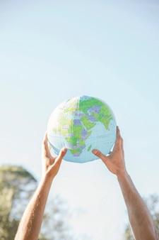 惑星モデルを持っている概念の手