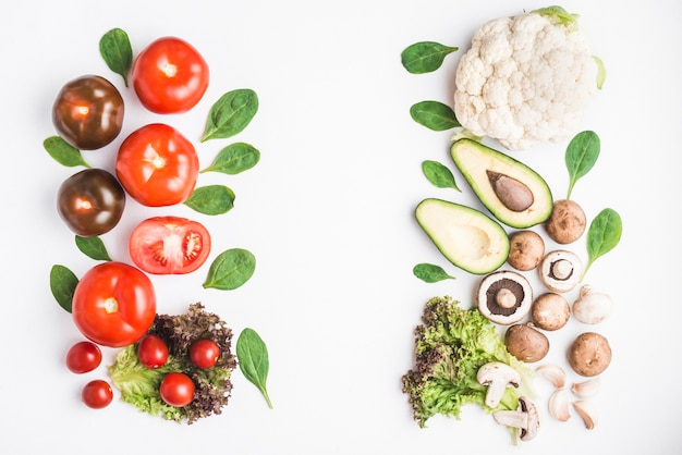 ハーブと野菜のヒープ