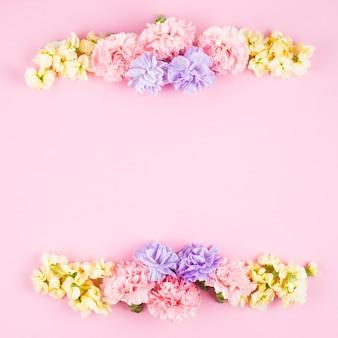 美しい繊細な花のライン