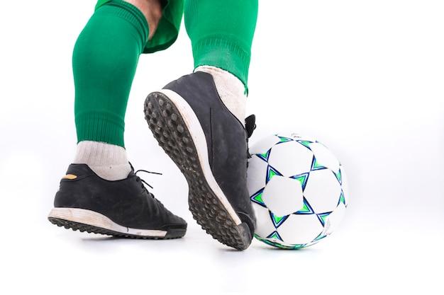 サッカー選手の撮影を閉じる