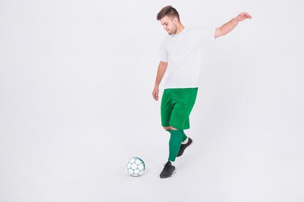 サッカー選手撮影