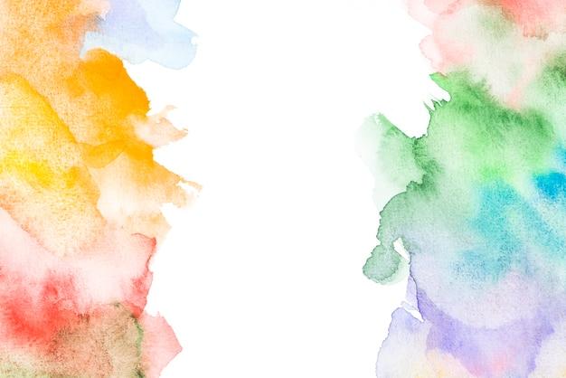 カラフルな塊を持つ水彩画の背景