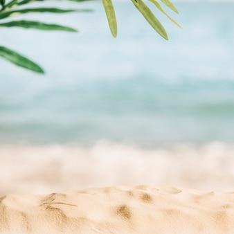 ぼんやりしたビーチの背景