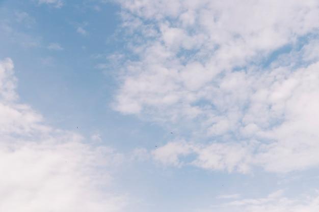 Низкий угол обзора облачного неба