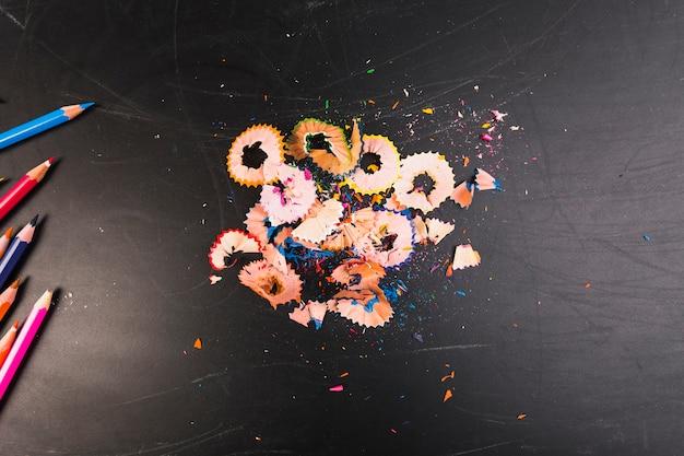 Цветные карандашные черенки