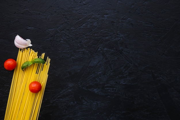 パスタのハーブと野菜