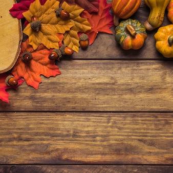 秋の収穫の組成
