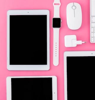 クローズアップの様々なデジタルデバイス