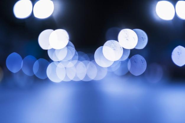 ライトブルーの明るいボケの背景