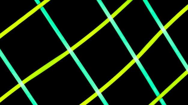 輝くライトチューブのグリッドパターン