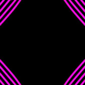 黒の背景の角にピンクのネオンストリップライト