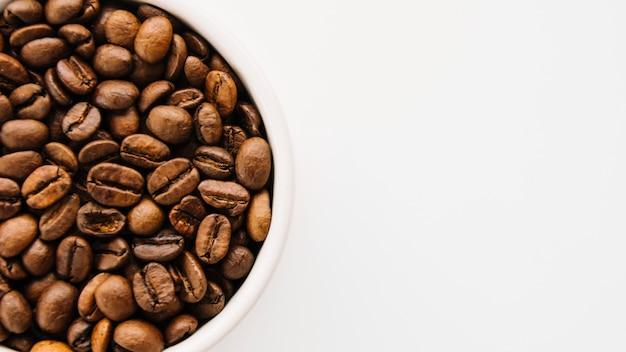 コーヒー穀粒のマグカップ
