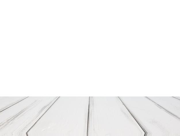 白い背景にテーブルトップ