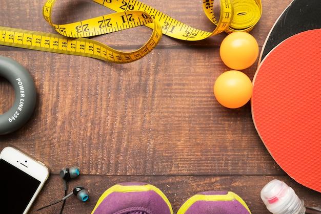 卓球の要素を持つ素敵なスポーツの構成