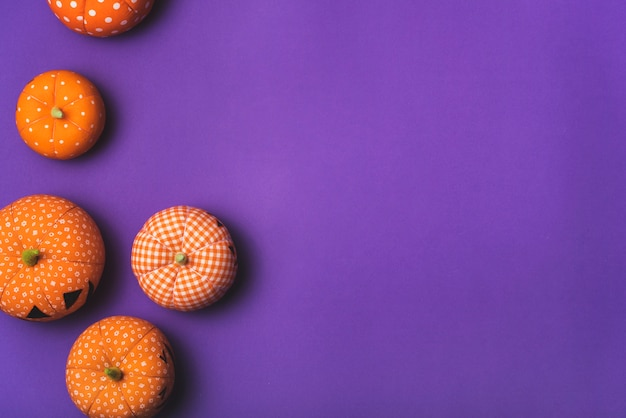 ハロウィーンのふわふわオレンジパンプキン