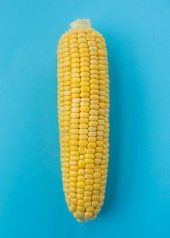 クローズアップ、トウモロコシ、穂軸、青、表面