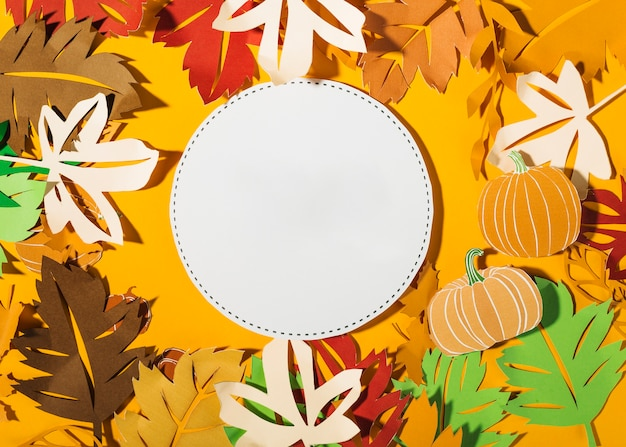 秋の紙の組成