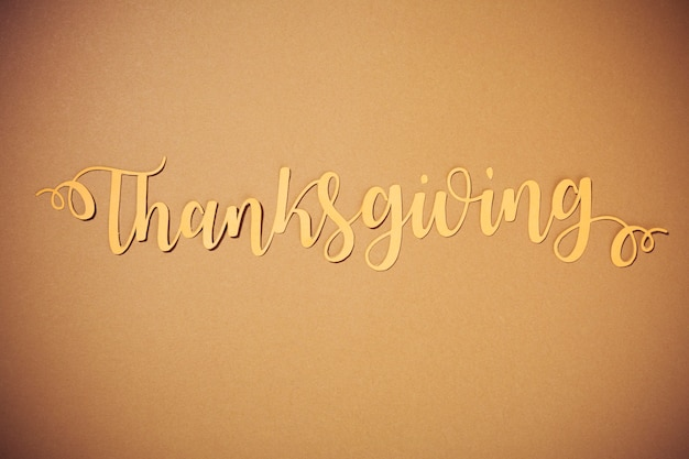 紙の感謝祭のレタリング