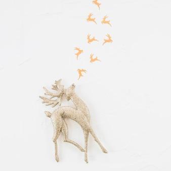 装飾鹿とおもちゃの装飾トナカイ