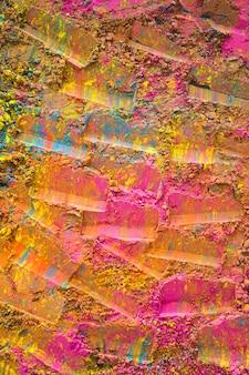 ピンクの塗装された表面にプリント