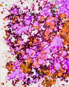 カラフルな薄紫紫色の水