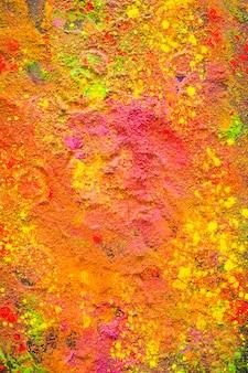 オレンジ色の粉末のサークルプリント