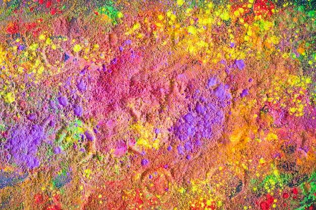 明るい粉のサークルプリント