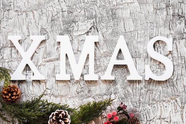 緑の枝のあるクリスマスの碑文