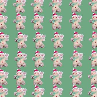 クリスマスのおもちゃの形のクッキーのコレクション