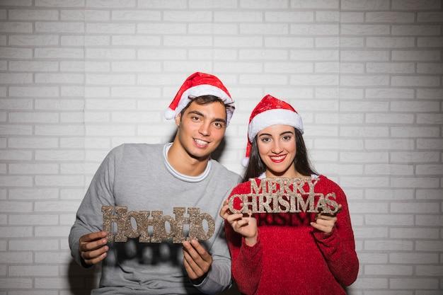Пара проведение рождественские надписи