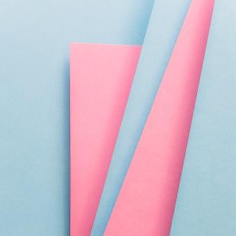 青とピンクの表紙レイアウト材料設計テンプレート