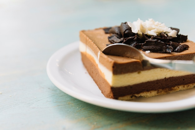 チョコレートケーキのスプーンフル