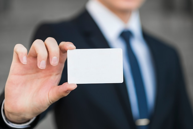 ビジネスマン、カード