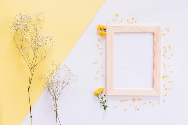 フレームと花