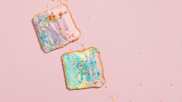 カラフルなトースト