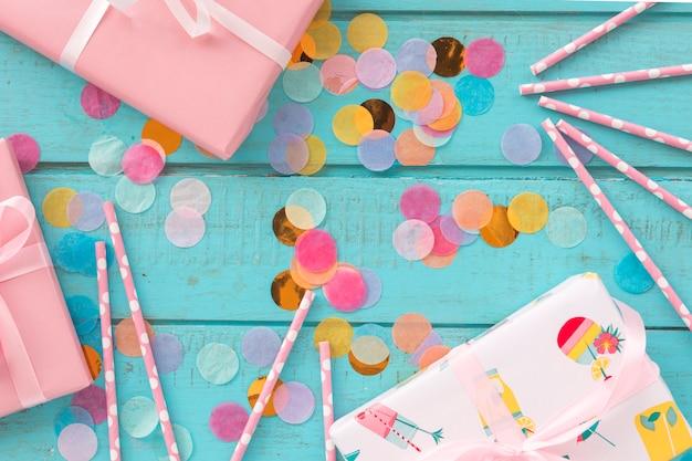 Топ подарков на день рождения с конфетти