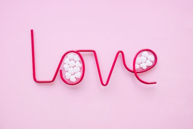 愛の文章の中のキャンディー