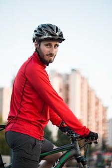 フィットネス、男の子、自転車